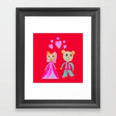Simple Love   Kids Painting Framed Art Print