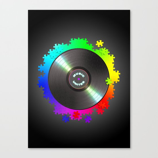 music_unites ! Canvas Print