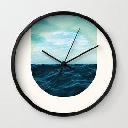 Water & Air, Circle & Square Wall Clock