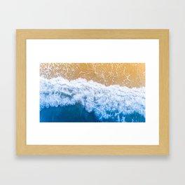 Beautiful Beach Waves Framed Art Print