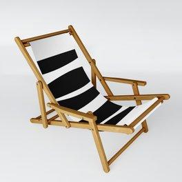 Irregular Stripes Black White Waves Art Design Sling Chair