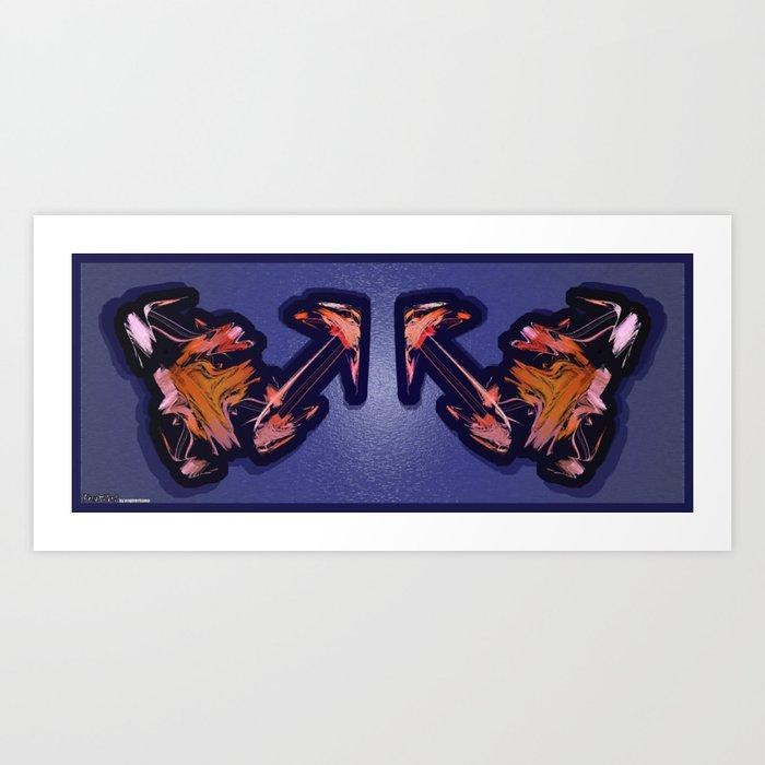Frakblot Sunglasses Art Print