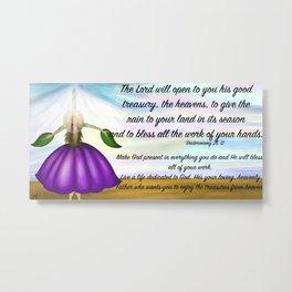 Flower girl from heaven - Deuteronomy 28, 12 Metal Print