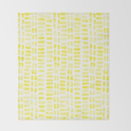 Abstract rectangles - yellow Throw Blanket