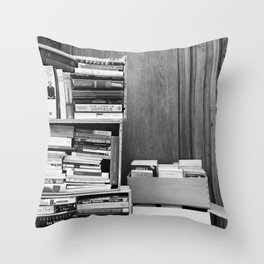 Paris in Black and White, French Books Throw Pillow