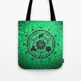 Green Circle Of Triangle Tote Bag