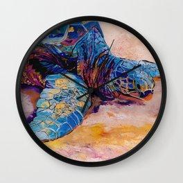 Turtle at Poipu Beach 6 Wall Clock