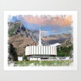 Provo Utah LDS Temple Art Print