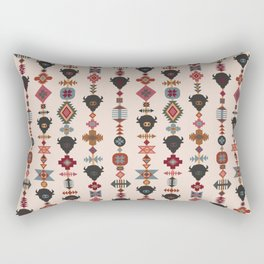 American Prairie Ethnic Tribal Seamless Pattern Rectangular Pillow