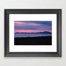 Harlech Sunset Framed Art Print