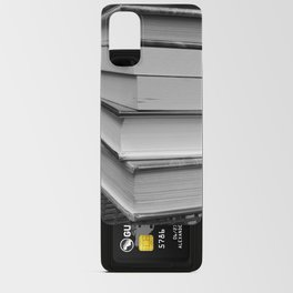 Stack of Books (in black and white) Android Card Case