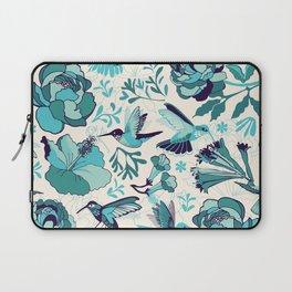 Hummingbird summerdance, Blue Laptop Sleeve