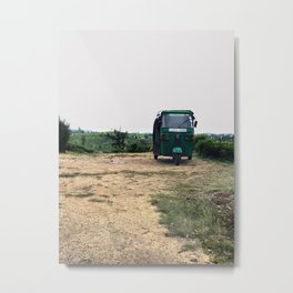 Tuktuk on a mountain top Metal Print