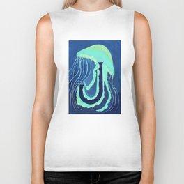 J is for Jellyfish Letter Alphabet Decor Design Art Pattern Biker Tank