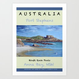 Poster Birubi Rock Pools Art Print