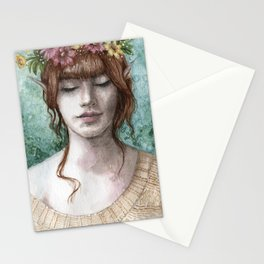 Flowers in your hair Stationery Cards