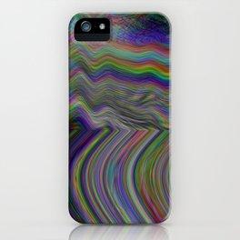 Digital pixel noise and glitch iPhone Case
