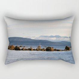 Sail Away On Galway Bay - Ireland Ocean Landscape - Blue Rectangular Pillow