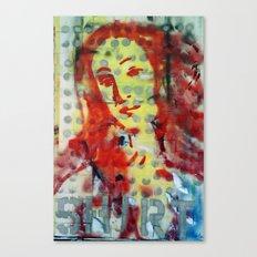 VENUS IN DOTS AND SHIRT Canvas Print