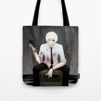 tokyo ghoul Tote Bags featuring Kaneki Tokyo Ghoul 2 by Prince Of Darkness