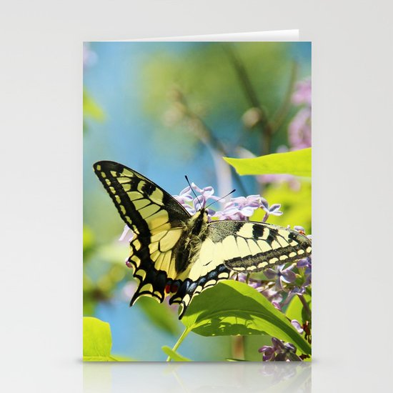 Swallowtail and lilac Stationery Cards