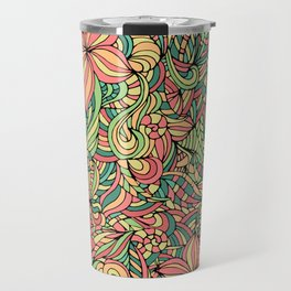 Floral delicate pattern Travel Mug