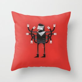 Back to Metal Business Throw Pillow