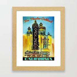 Fox Theatre in Oakland California Framed Art Print