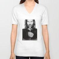 aragorn V-neck T-shirts featuring Aragorn by Rik Reimert