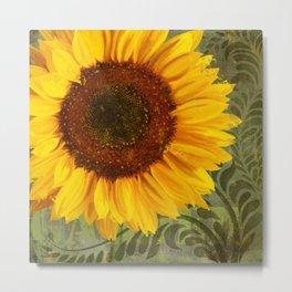 Sunflower Garden floral art Metal Print