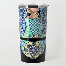 Stained glass in the Arendelle Castle Travel Mug