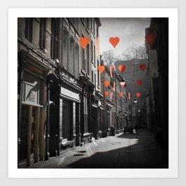 Valentine's Day, Namur, Belgium Art Print