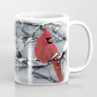 cardinal Mugs featuring Cardinal by Ben Geiger