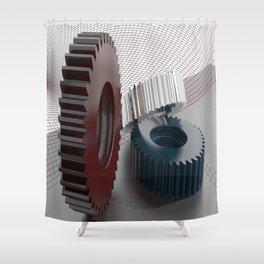 Precision mechanics Shower Curtain