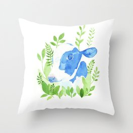 Chester the Rescued Cow Throw Pillow
