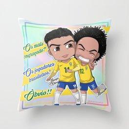 Jogadores Brasileiros Throw Pillow