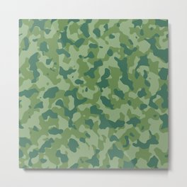 Camouflage Forest Foliage Metal Print