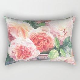 Gorgeous Red Rose Bouquet Rectangular Pillow