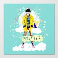 shinee Canvas Prints featuring SHINEE Taemin by Haneul Home