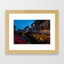 Dinner on the Lauch River - Colmar, France Framed Art Print