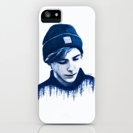 SKAM lost and found (blue) iPhone Case