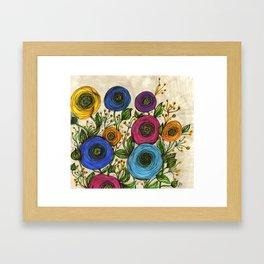 Round Ranunculus Framed Art Print