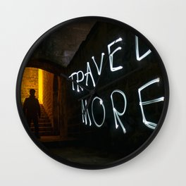 Travel More Wall Clock