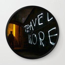 Travel More Wall Clock