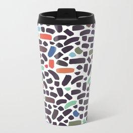 Brush strokes pattern #5 Metal Travel Mug