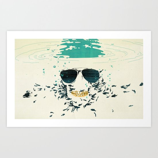 Sleeping with the fishes Art Print
