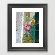 Porto Flower Tiles Framed Art Print