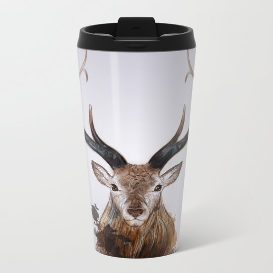 Cervus Canadensis Metal Travel Mug