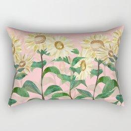 Sunflowers in Pink Rectangular Pillow