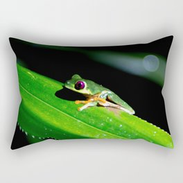 pathway to the red-eyed tree frog Rectangular Pillow